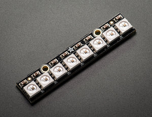 Adafruit NeoPixel Stick for Arduino- 8 x WS2812 5050 RGB LED with Integrated Drivers - Chicago Electronic Distributors  - 1
