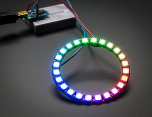 NeoPixel Ring - 24 x WS2812 5050 RGB LED with Integrated Drivers - Chicago Electronic Distributors  - 2