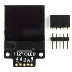 "Pimoroni 1.12"" Mono OLED (128x128, white/black) Breakout"