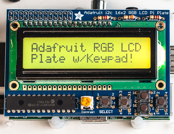 Adafruit RGB Positive 16x2 LCD+Keypad Kit for Raspberry Pi - Chicago Electronic Distributors  - 1