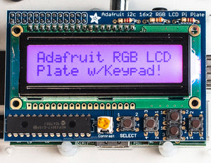 Adafruit RGB Positive 16x2 LCD+Keypad Kit for Raspberry Pi - Chicago Electronic Distributors  - 2