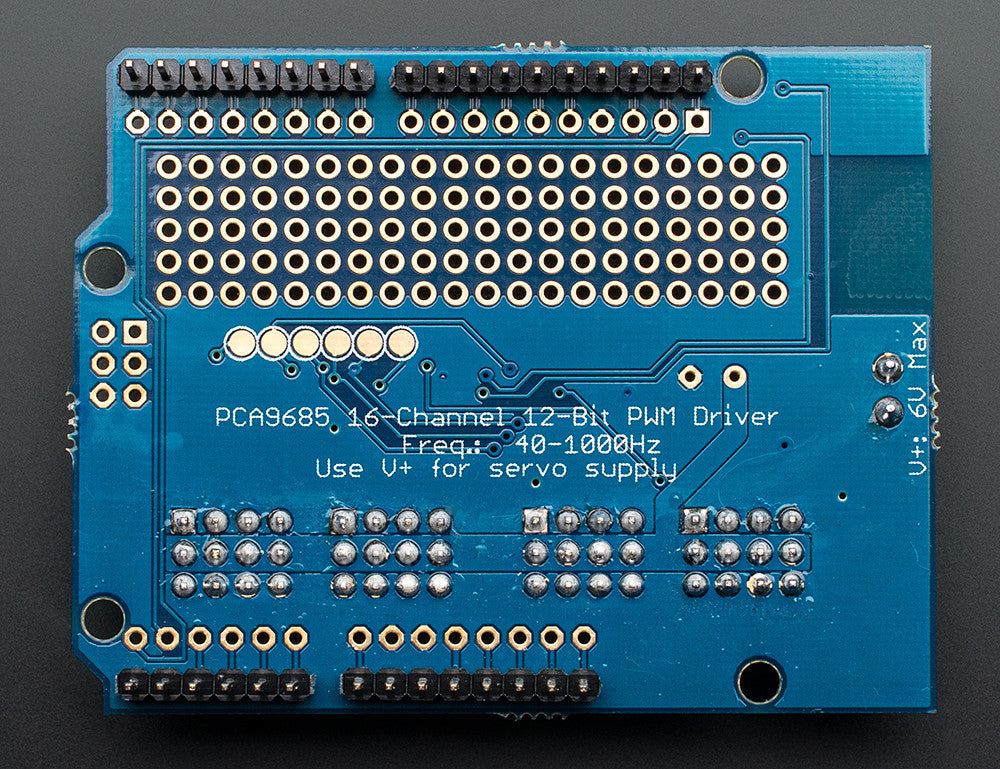 Adafruit 16-Channel 12-bit PWM/Servo Shield - I2C interface - Chicago Electronic Distributors  - 5