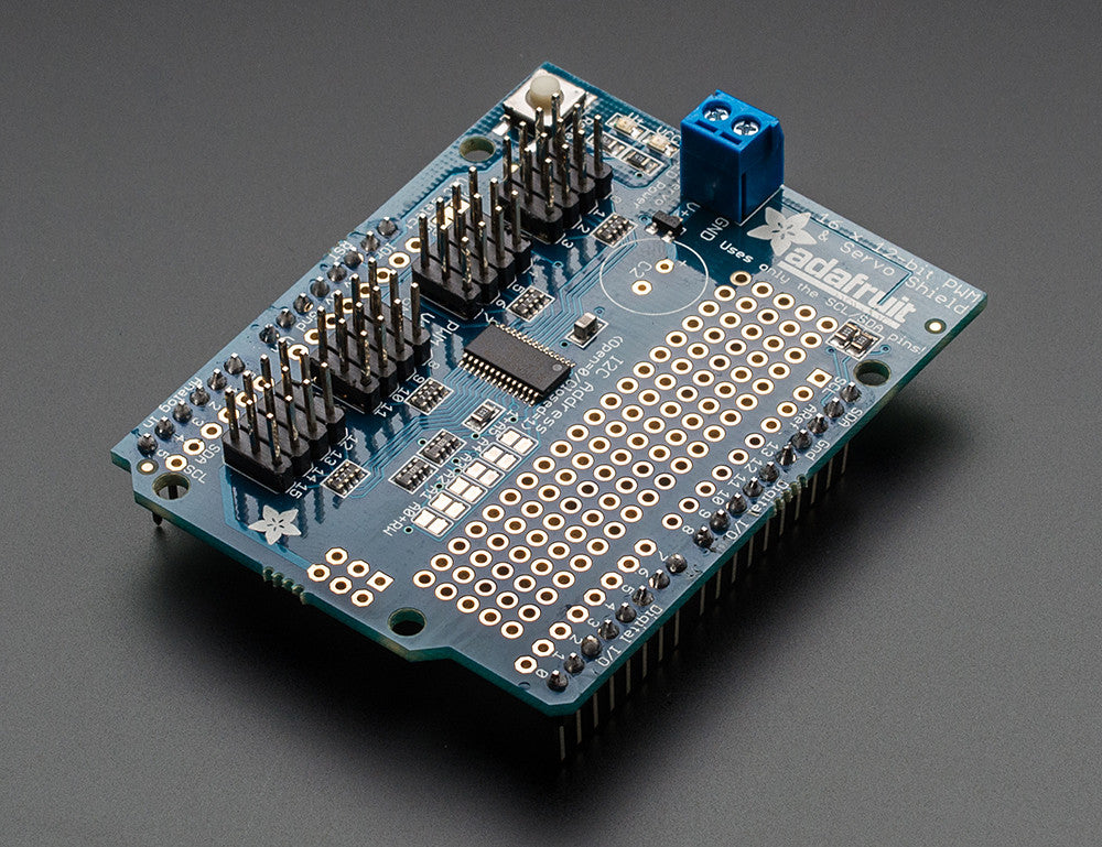 Adafruit 16-Channel 12-bit PWM/Servo Shield - I2C interface - Chicago Electronic Distributors  - 4