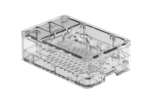 3-piece Case for Pi 4 Model B in Black or Clear