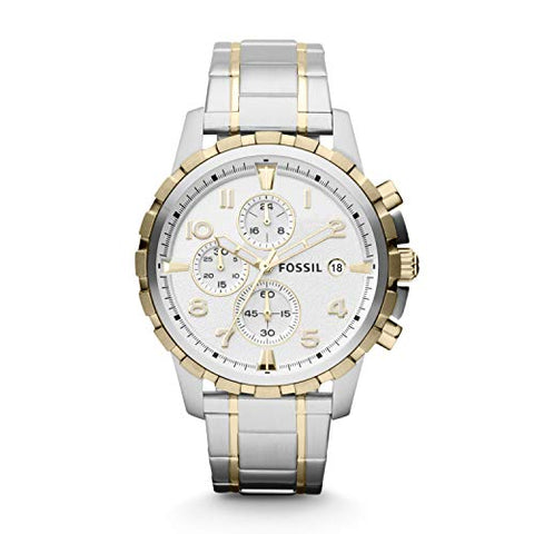 Fossil Men's Quartz Two-Tone Stainless Chronograph - Diamond Wrist