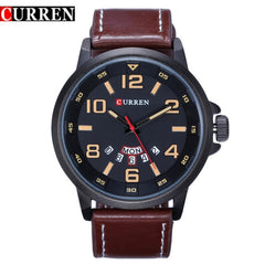 Curren Quartz - Leather - Diamond Wrist
