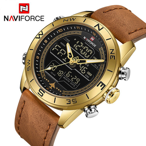 Naviforce Gold Quartz - Diamond Wrist