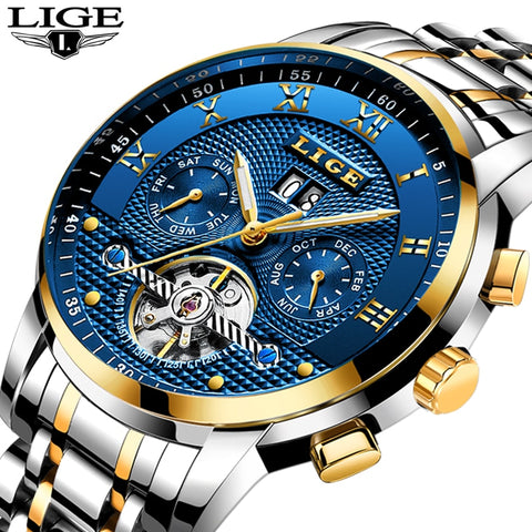 Lige Mens Business Mechanical - Diamond Wrist