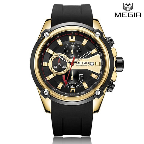 Megir Chronograph Luxury Quartz - Diamond Wrist