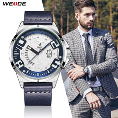 Weide Leather Strap Quartz - Diamond Wrist
