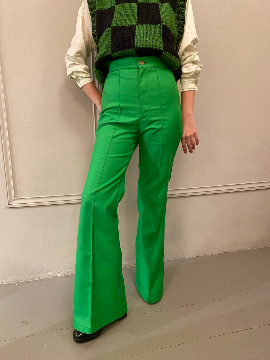 Green Seventies Pants