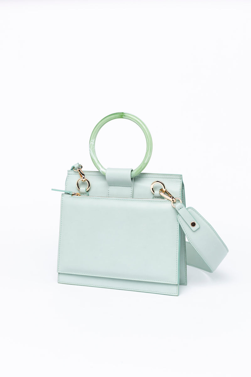 Shellac Crossbody Mint Bag