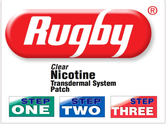 Rugby Nicotine Patch Steps 1-2-3