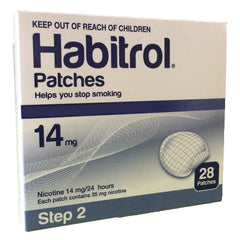 Habitrol Nicotine Patches Step 2 (14mg) 28 patches per box