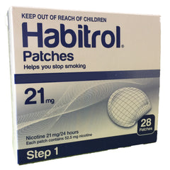 Habitrol Nicotine Patches Step 1 (21mg) 28 patches per box