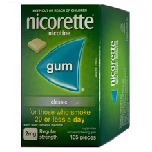 Load image into Gallery viewer, Nicorette 2mg Classic Nicotine Gum 105 piece box