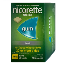 Load image into Gallery viewer, Nicorette 4mg Classic Nicotine Gum 105 piece box
