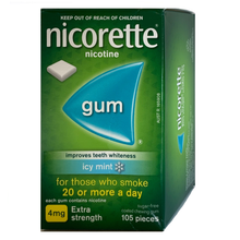 Load image into Gallery viewer, Nicorette 4mg Icy Mint Nicotine Gum 105 piece box