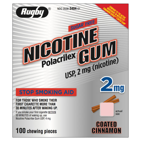 Rugby 2mg Coated Cinnamon Nicotine Gum 100 piece box