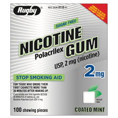 Rugby 2mg Coated Mint Nicotine Gum 100 piece box