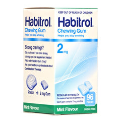 Habitrol 2mg Mint Nicotine Gum 96 piece box