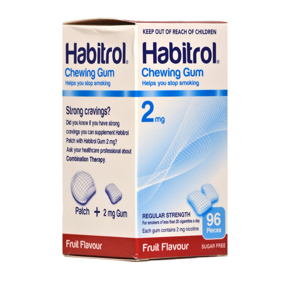 Habitrol 2mg Fruit Nicotine Gum 96 piece box