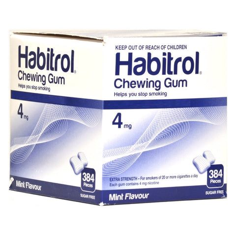 Habitrol 4mg Bulk Mint Nicotine Gum 384 piece box