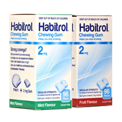 Habitrol 2mg Combo Mint & Fruit  Nicotine Gum 96 piece boxes