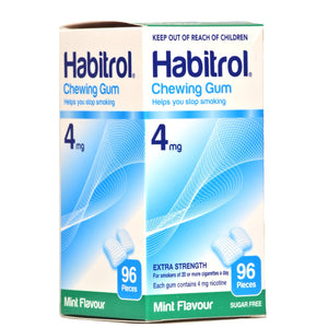 Habitrol 4mg Mint Nicotine Gum 96 piece box