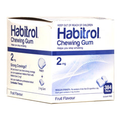Habitrol 2mg Bulk Fruit Nicotine Gum 384 piece box