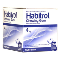 Habitrol 4mg Bulk Fruit Nicotine Gum 384 piece box