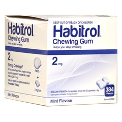 Habitrol 2mg Bulk Mint Nicotine Gum 384 piece box