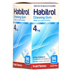 Habitrol 4mg Fruit Nicotine Gum 96 piece box