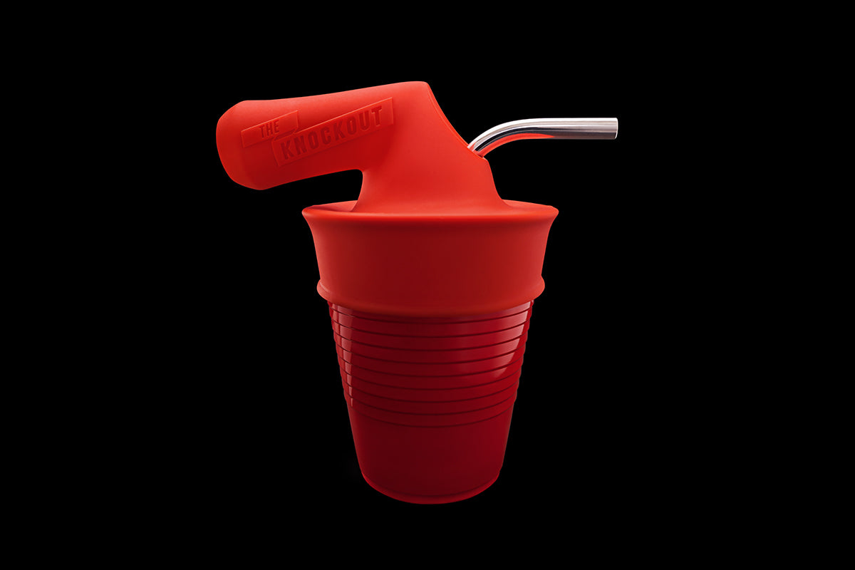 THE KNOCKOUT XL ON RED SOLO CUP