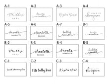 Load image into Gallery viewer, White place cards | Tented place cards | Folded Place Cards | Blank place cards