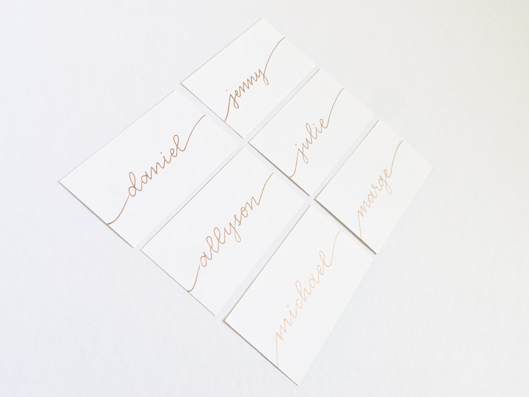 White place cards | Flat Place Cards | Blank place cards