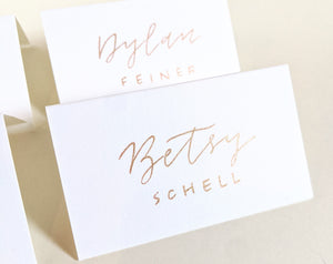 White place cards | Tented place cards | Folded Place Cards | Blank place cards
