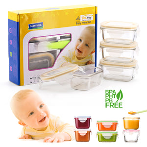 Glasslock Baby Set de 4 + Cuchara Silicona