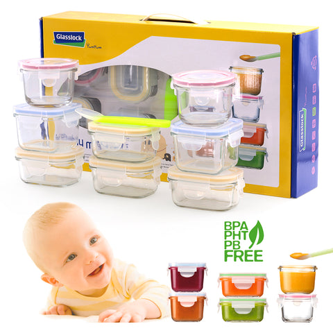 Glasslock Baby Set de 8 Multiformato + Cuchara Silicona