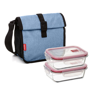 Tatay Urban Food Roll & Go Denim Blue con 2 Cook & Eat 0.64L
