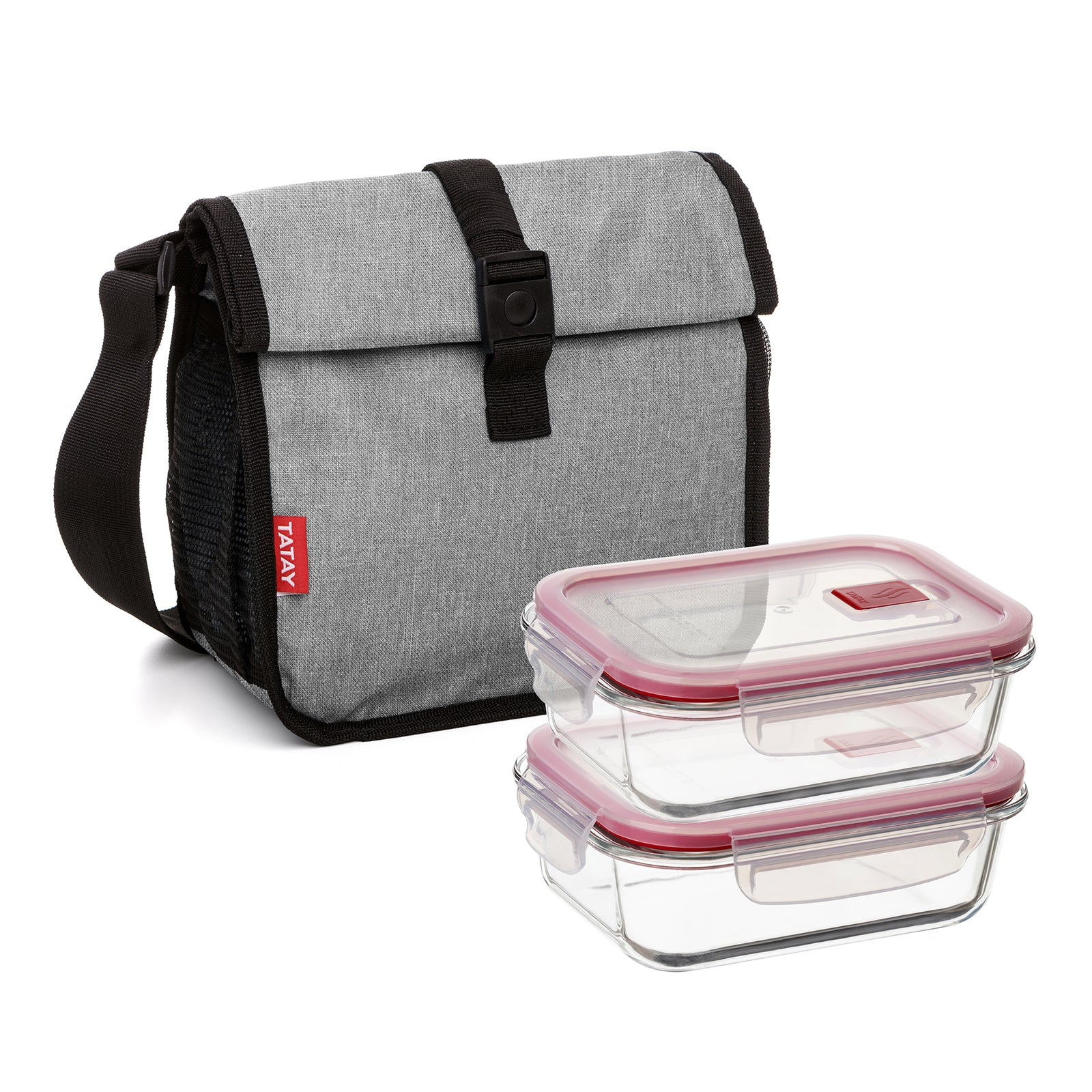 Tatay Urban Food Roll & Go Denim Grey con 2 Cook & Eat 0.64L