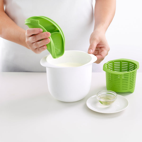 Lékué - Kit Queso Fresco en Casa, Fresh Cheese Maker 1L Verde