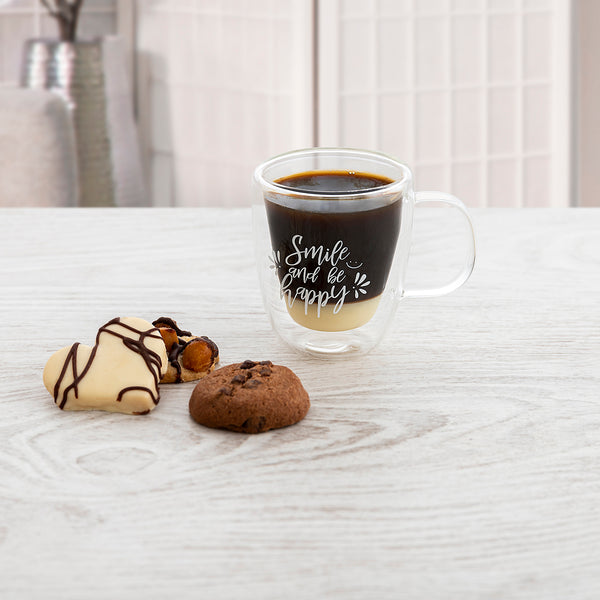 QUID 7435020 - Taza Café Express 10 cl Decorada de Doble Pared