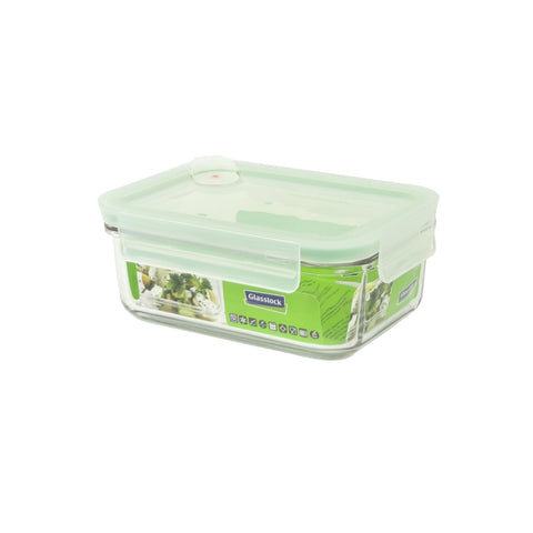 Recipiente Hermético Rectangular Glasslock Air Microondas 715 ml
