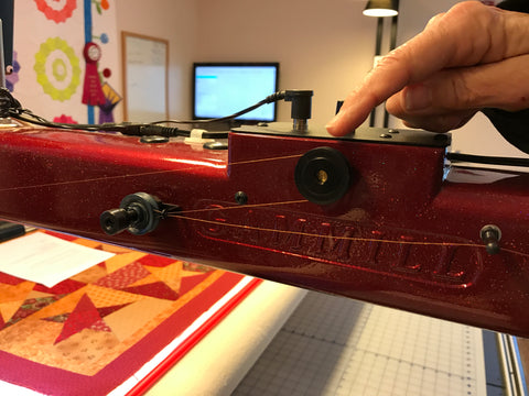 learning to thread stapler gamill longer quilting machine