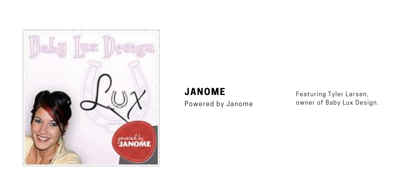 Powered by Janome Baby Lux Design