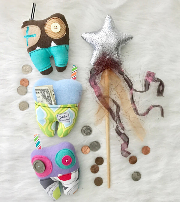 Tooth Fairy Monster Pillows by Baby Lux Design