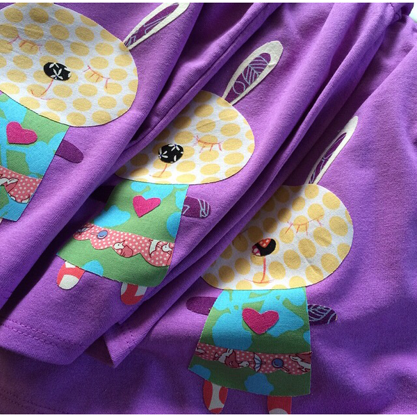Girl's Patchwork Bunny T-shirt