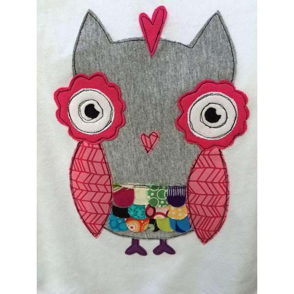 Owl Girls T-shirt - BabyLuxDesign