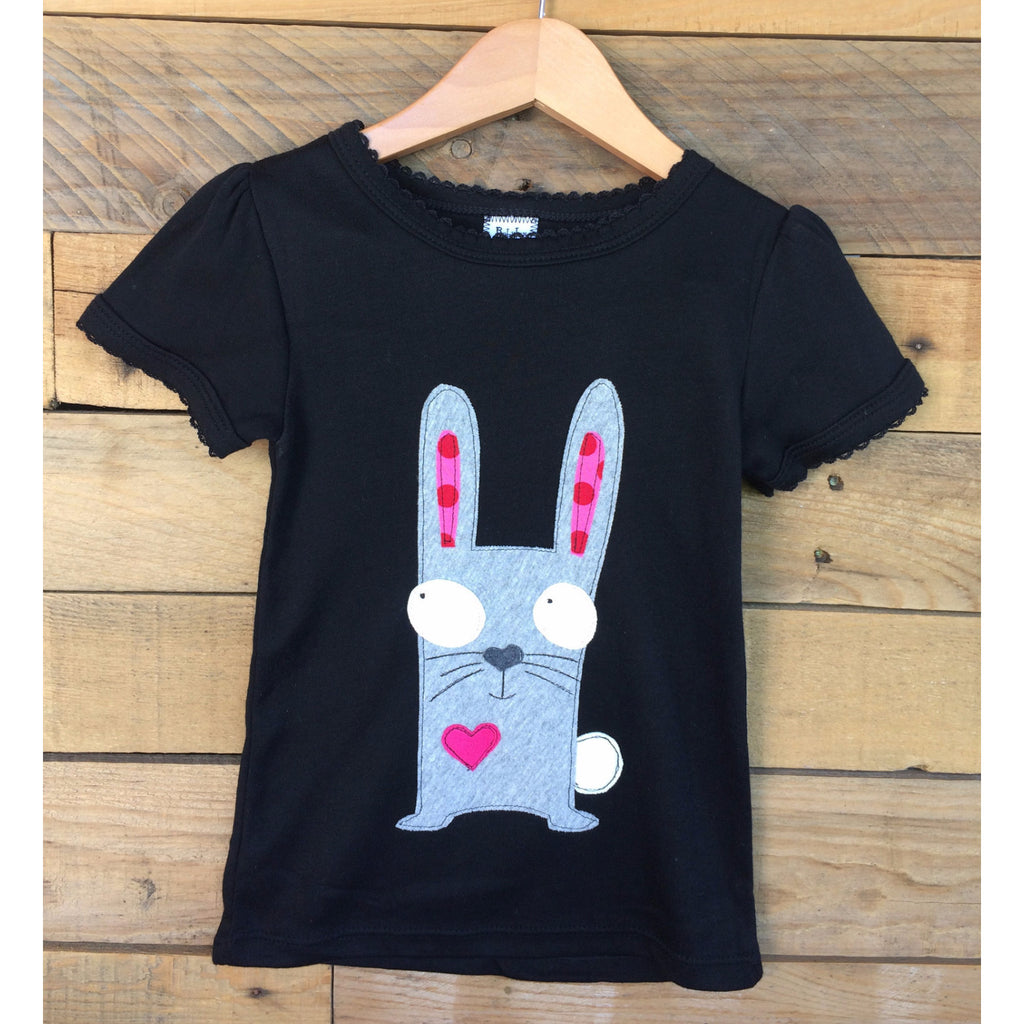 Baby Lux Design girls bunny applique t-shirt